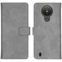 iMoshion Luxuriöse Buchtyp-Hülle Nokia 1.4 - Grau