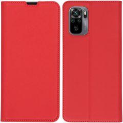 iMoshion Slim Folio Booklet  Xiaomi Redmi Note 10 (4G) / Note 10S - Rot