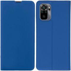 iMoshion Slim Folio Booklet  Xiaomi Redmi Note 10 (4G) / Note 10S - Blau