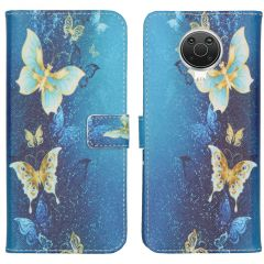 iMoshion Design TPU Booktype Hülle Nokia G10 / G20 - Blue Butterfly