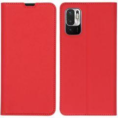 iMoshion Slim Folio Booklet  Xiaomi Redmi Note 10 (5G) - Rot