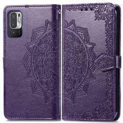 iMoshion Mandala Booktype-Hülle Xiaomi Redmi Note 10 (5G) - Violett