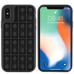 iMoshion Pop It Fidget Toy - Pop It Hülle iPhone Xs / X - Schwarz