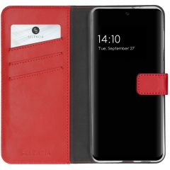 Selencia Echtleder Booktype Hülle Samsung Galaxy S21 FE - Rot