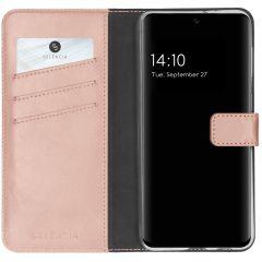 Selencia Echtleder Booktype Hülle Samsung Galaxy S21 FE - Rosa