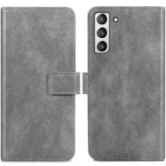 iMoshion Luxuriöse Buchtyp-Hülle Samsung Galaxy S21 FE - Grau