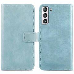 iMoshion Luxuriöse Buchtyp-Hülle Samsung Galaxy S21 FE - Hellblau