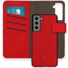 iMoshion Entfernbare 2-1 Luxus Booktype Hülle Galaxy S21 FE - Rot
