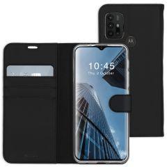 Accezz Wallet TPU Booklet Motorola Moto G30 / G20 / G10 (Power) - Schwarz