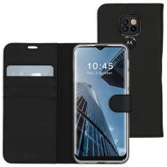 Accezz Wallet TPU Booklet Motorola Moto E7 Plus / G9 Play - Schwarz