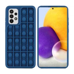 iMoshion Pop It Fidget Toy - Pop It Hülle Galaxy A72 - Donkerblauw