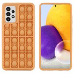 iMoshion Pop It Fidget Toy - Pop It Hülle Samsung Galaxy A72 - Gold