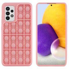 iMoshion Pop It Fidget Toy - Pop It Hülle Samsung Galaxy A72 - Rosa