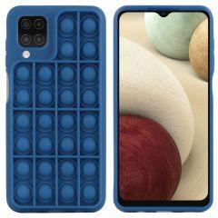 iMoshion Pop It Fidget Toy - Pop It Hülle Galaxy A12 - Dunkelblau