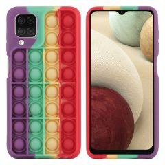 iMoshion Pop It Fidget Toy - Pop It Hülle Galaxy A12 - Rainbow
