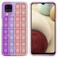 iMoshion Pop It Fidget Toy - Pop It Hülle Galaxy A12 - Multicolor