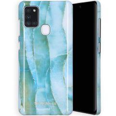 Selencia Maya Fashion Backcover Samsung Galaxy A21s - Agate Blue