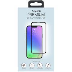Selencia Screen Protector aus gehärtetem Glas für das iPhone 13 Mini - Schwarz