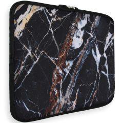 iMoshion Universele Design Sleeve 13 Zoll - Black Marble