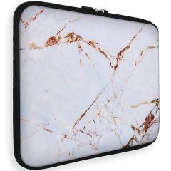 iMoshion Universele Design Sleeve 13 Zoll - White Marble