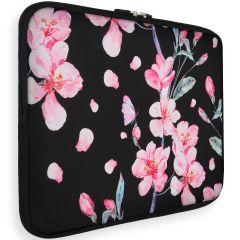 iMoshion Universele Design Sleeve 13 Zoll - Blossom Watercolor Black