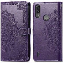 iMoshion Mandala Booktype-Hülle Motorola Moto E7i Power - Violett