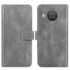 iMoshion Luxuriöse Buchtyp-Hülle Nokia X10 / X20 - Grau