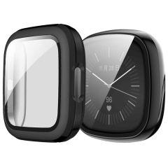 iMoshion Hard Case + Displayschutzfolie Fitbit Versa 3 - Schwarz
