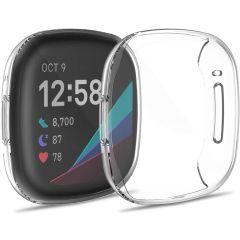 iMoshion Soft Case + Displayschutzfolie Fitbit Versa 3 - Schwarz