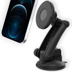 Accezz MagSafe-Telefonhalter Auto - Armaturenbrett / Windschutzscheibe - Schwarz