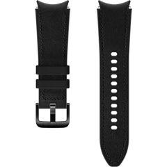 Samsung Hybrid Leather Band S/M für das Galaxy Watch / Watch 3 / Watch 4 / Active 2 / Classic 4 : 40-41-42-44mm - Schwarz