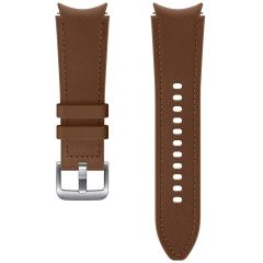 Samsung Hybrid Leather Band S/M für das Galaxy Watch / Watch 3 / Watch 4 / Active 2 / Classic 4 : 40-41-42-44mm - Braun