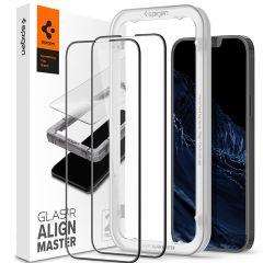 Spigen AlignMaster Full Screen Protector 2-Pack für das iPhone 13 Pro Max - Schwarz